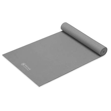 GAIAM Essentials 6mm - 63317 - Mata do jogi z paskiem, szara